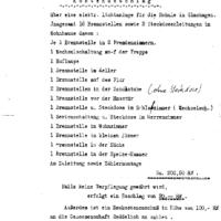 Originalrechnung für die Elektrifizierung der Schule 1930.