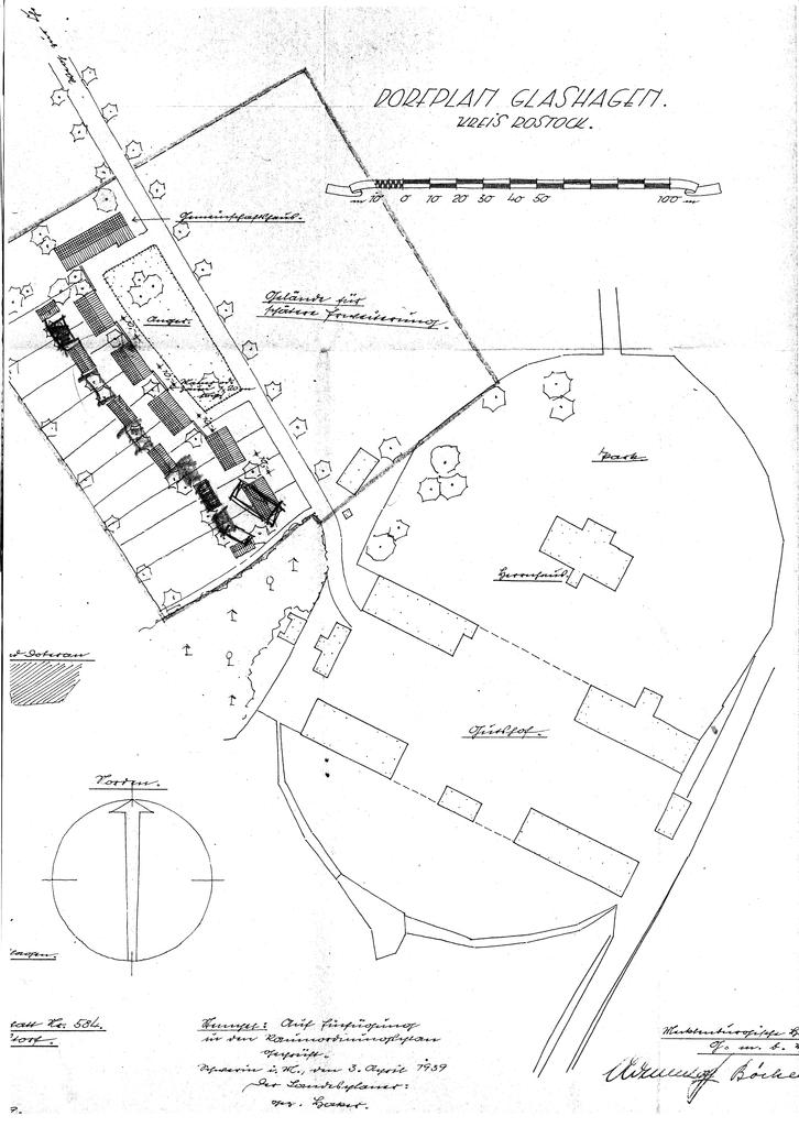 1939, Bauplan Hof Glashagen (Meckl)
